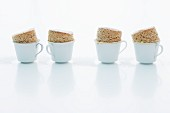 Mini espresso and nut soufflés in cups