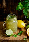 Chia fresca (a refreshing drink made with limes and chia seeds)