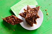 Gingerbread diamonds with pine nuts