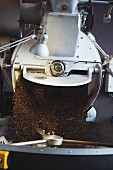 Coffee, roasting, drum, coffee roasting, Elbgold in Hamburg