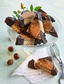 Nut corners with dark chocolate glaze