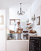 A baker in a bakery in South Africa