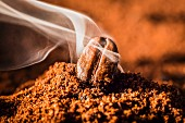 The aroma of freshly ground coffee