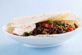 Tortillas with chilli con carne