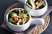 Vegetable stew with Brie de Melun