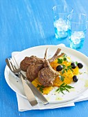Barbecue Special - Moroccan Lamb Cutlets with Orange & Olive Salad