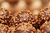 Chocolate pralines (close-up)