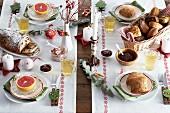 Grosses Weihnachtsfrühstück