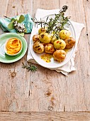 Australian Christmas - Take it Outdoors - Rosemary potato skewers with sweet chilli butter