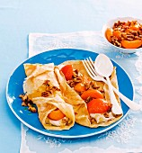 8 ways with summer stone fruit - Apricot and ricotta cream crepes