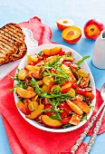 8 ways with summer stone fruit - Nectarine and haloumi salad