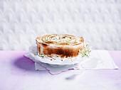 Limetten-Eistorte mit Baiser