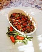 Neapolitan-style pepper medley