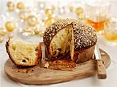 Drunken panettone (Christmas cake, Italy)