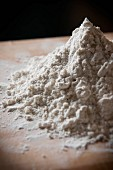 A pile of flour on a work surface