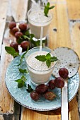 A gooseberry smoothie with mint