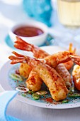 Prawn tempura with chilli sauce
