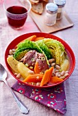 Pot au feu with duck and savoy cabbage (France)