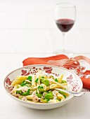 Turkey and broad bean penne