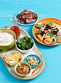 Ingredients for vietnamese salad