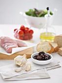 Ingredients: Garlic, Olive, Chicken breast fillets