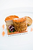 Goose liver terrine with pickled rhubarb and brioche