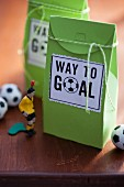 A gift bag for football fans