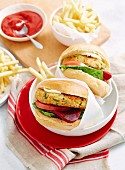 Couscous and bean burgers