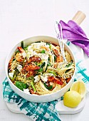 Angel Hair Pasta with Prawns, Lemon & Ricotta