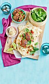 Lamb Kofta with Hummus & Flatbreads