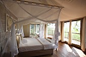A bedroom in a lodge, Africa