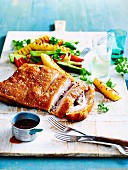 Crisp pork belly with pineapple salad
