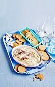 Tiramisu Dip with Ginger Crackers