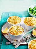 Leek & Fish Pie with Crunchy Bread Topping
