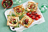Zucchini & Ricotta Open Pies With Olive Salsa