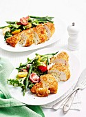 Cheese-Stuffed Chicken Schnitzel