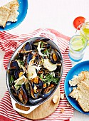 Mussels with Bacon, Cider & Cream