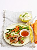 Barbecued Duck with Asian dressing