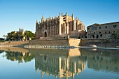 The La Seu cathedral in Palm, Majorca, Spain