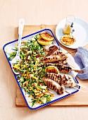 Turkey with Corn Salad