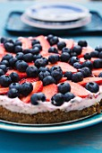Strawberry and blueberry tart (detail)