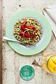 Ptitim (Israeli couscous) with peppers