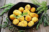 Potatoes with rosemary