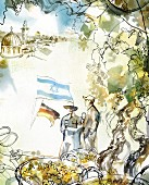 An illustration of a wine journey – friendship between Germany and Israel