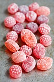 Raspberry and strawberry sweets