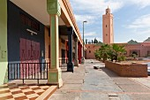 Noujoum Square, Noujoum mosque in Amerchich, Marrakesh, Morocco