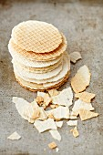 A stack of wafers