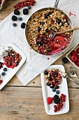 Berry crumble with fresh berries