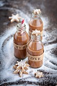 Three bottles of praline liqueur for Christmas