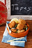 Croquettes with Serrano ham and pork